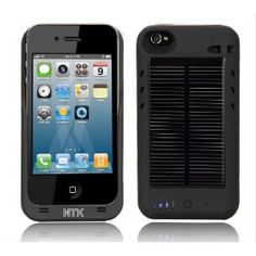 iphone case with solar powered battery charger built in. I hate carrying a charger. I have no time to wait Best Iphone, Iphone 4, Iphone Cases, Solar Energy System, Solar Power, Solar Charger, Solar Battery, Iphone Charger, Coque Iphone