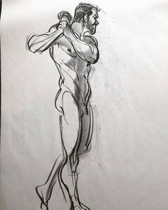 """But why male models?"" An older sketch I don't I've posted before. Norm #grizandnorm #figuredrawing #lifedrawing #croquisbook"