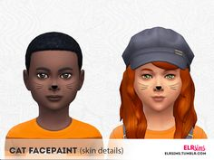 Make Up: Cat Facepaint for Kids by ELRsims from The Sims Resource • Sims 4 Downloads