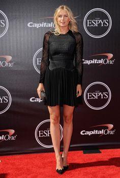 Maria Sharapova Photos: Arrivals at the ESPYS. Arrivals at the 2014 ESPYS at the Nokia Theatre in Los Angeles.