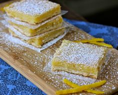 Meyer lemon marscapone bars. These look so good I'm tempted to make them really soon!