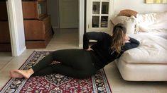 Alaselkäkipu: 4 lepoasentoa, jotka auttavat - Kotiliesi.fi Bean Bag Chair, Health Fitness, Workout, Stretching, Exercises, Work Out, Exercise Routines, Beanbag Chair, Excercise