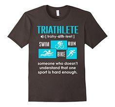 Men's Triathlete Definition Shirt - Triathlon Gift Ideas Medium Asphalt - http://www.exercisejoy.com/mens-triathlete-definition-shirt-triathlon-gift-ideas-medium-asphalt/fitness/