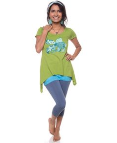 Float On Organic Ebb And Flow Top: Soul Flower Clothing