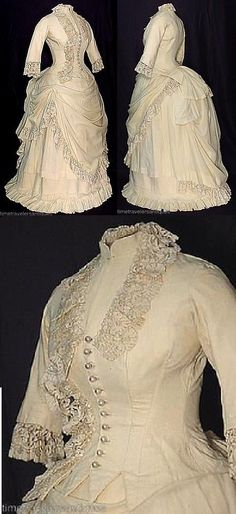 ~1880s day dress~  Im living in the wrong century...could you imagine having an everyday dress like this?