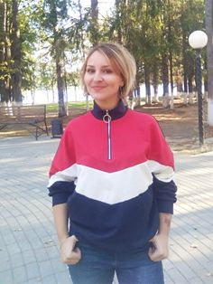 bf400102e97d4 US $18.0 40% OFF| SHEIN Multicolor Minimalist O Ring Zip Front Cut And Sew  Stand Neck Raglan Sleeve Sweatshirt Autumn Women Casual Pullovers-in  Hoodies ...