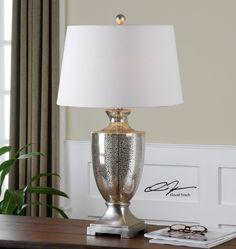Wonderful Uttermost Oristano Mercury Glass Lamp 26494 | Uttermost | Pinterest |  Mercury Glass
