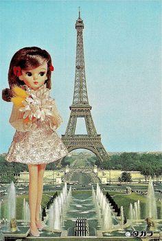 Licca in Paris postcard!