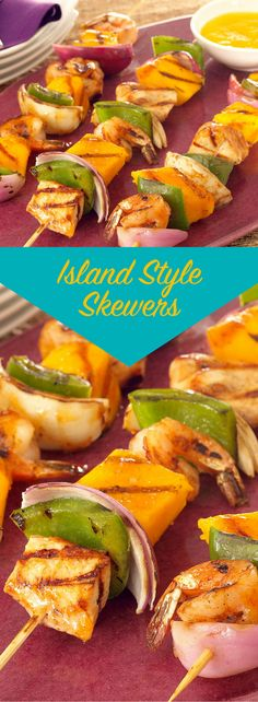 For a taste of the islands, try these exciting kabobs. You'll find yourself on island time with this meal which includes mango chutney, mango chunks and mango in the sauce. Just relax, cook and enjoy!