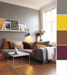 Uma sala com cores mais sóbrias!