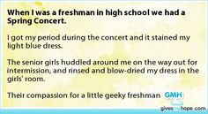 Amazing friends - When I was a freshman in high school we had a Spring Concert.