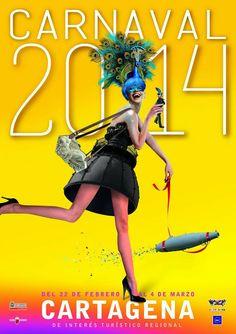 Alegría y simbolismo para anunciar el Carnaval 2014 en Cartagena, España Posters Carnival