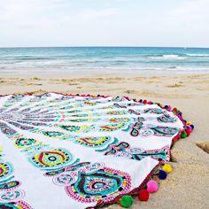 toalla redonda playa, toalla xl, toalla mandala, tootats