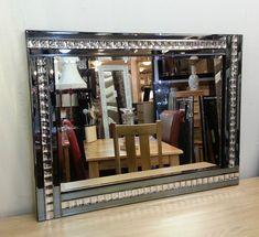 NEW Modern Art Deco Acrylic Crystal Glass Design Bevelled Mirror Smoked Beveled Mirror, Beveled Glass, Mosaic Glass, Crystal Design, Glass Design, Bow Design, Wall Design, Mirrors For Sale, Modern Art Deco