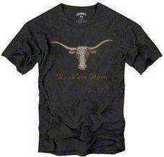 Texas Longhorns Charcoal '47 Brand Hook 'em Horns Scrum T-Shirt