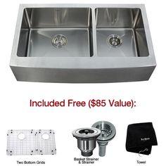 16-gauge stainless apron sink - Kraus KHF203-36