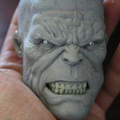 "Everything SFX en Instagram: ""Love this close up shot of Alvaro Stuardo's (@stuardoalvaro) 1:4 scale Hulk head sculpt. -- #sculpt #sculpture #artist #hulk #planethulk #marvel #sculpt #redhulk #civilwar #avengers #incrediblehulk #legday #thanos #armday #muscle #sculpting #markruffalo"""