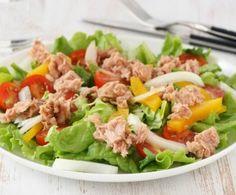 Tradicional ensalada de atún http://www.1001consejos.com/ensaladas-saludables/