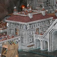 Dwarf City under attack, awesome diorama