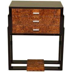 Antiques Scalloped Edges Furniture Constructive 1940's 2-drawer Mahogany Nightstand