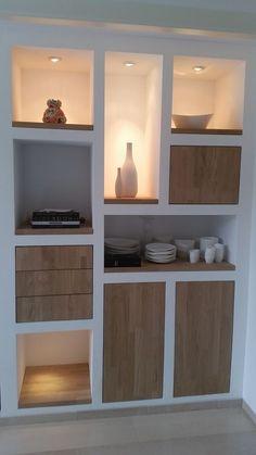 Modern | build-in furniture | custom made | oak | white | shelf | doors: