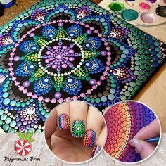 Mandala Dotting Art Set – Pretty Little Sale Dot Art Painting, Rock Painting Designs, Mandala Painting, Stone Painting, Mandala Dots, Mandala Pattern, Mandala Design, Rock Crafts, Arts And Crafts