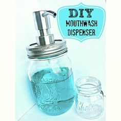Check out this DIY Mouthwash Dispenser I made for Mason…