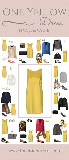 One Yellow Dress in a Capsule Wardrobe: 14 Ways to Wear It