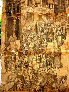 Gravure tijdens restauratie in kerat kunstatelier,fotocopyright © 2014 kunstrestauratie atelier kerat - Alle rechten voorbehouden- www.kerat.be  www.art-restaurateur.fr - restaureert oude én nieuwe kunstwerken op doek, paneel of andere dragers. Hierbij inbegrepen: iconen, muurschilderijen, steen- gips- of houten beelden. Verschillende restauratietechnieken worden gebruikt, zoals: reiniging en retouches, herstellen van de grondlagen, behandeling van houtwormen schimmels. Hoe wordt er concreet…