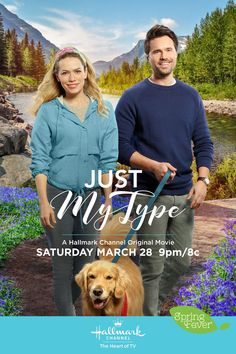 "Just My Type Will Vanessa's (Bethany Joy Lenz) interview with author Martin (Travis Van Winkle) inspire her to take a leap of faith? ""Just My Type"" premieres March 28 only on Hallmark Channel. Part of Spring Fever. Hallmark Channel, Películas Hallmark, Films Hallmark, Bethany Joy Lenz, Latest Movies, New Movies, Movies Online, Movies And Tv Shows, Funny Movies"