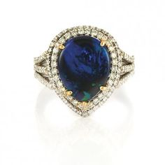 Platinum, Black Opal and Diamond Ring for Sale at Auction on Thu, 06/23/2011 - 07:00 - Fine Jewelry | Doyle Auction House