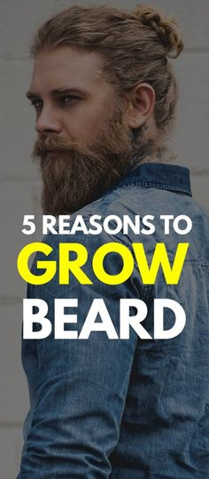If you can't decide whether you should be growing a beard then we have 5 reasons good enough for you to. Latest Beard Styles, Beard Styles For Men, Hair And Beard Styles, Long Hair Styles, Haircuts For Long Hair, Haircuts For Men, Cool Hairstyles, Men's Haircuts, Beard Growth