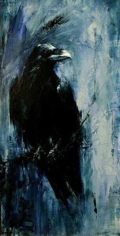 New Spirit Animal Art Crows Ravens Ideas Crow Art, Bird Art, Corvo Tattoo, Crow Painting, Encaustic Painting, Raven Bird, Blue Raven, Crows Ravens, Desenho Tattoo