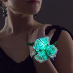 Glow in the dark prom corsage! (yes, they are real)