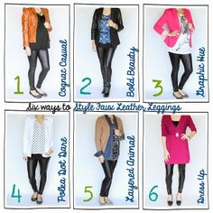 Tutor My Style: Six Ways to Style~ {Faux Leather Leggings} (some are maternity but they'd still be great outfits even if you're not pregnant)