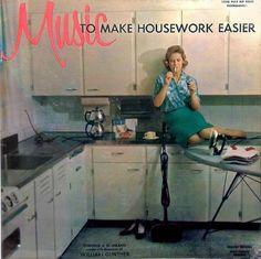 Música para tornar tarefas domésticas mais fáceis.