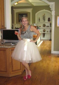 Adult tutu, ivory tutu skirt, tulle skirt, womens tutu, wedding dress, bridesmaids dress, champagne tutu. $175.00, via Etsy.