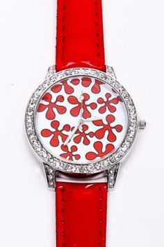 Designer Clothes, Shoes & Bags for Women Red Jewelry, Hippie Jewelry, Antique Jewelry, Red Rhinestone, Rhinestone Jewelry, Diamond Earrings For Women, Women's Earrings, Floral Prints, Red Watches
