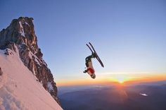 Tommy Ellingson Skiing on Mt. Hood Photo by Dan Sherwood -- National Geographic Your Shot