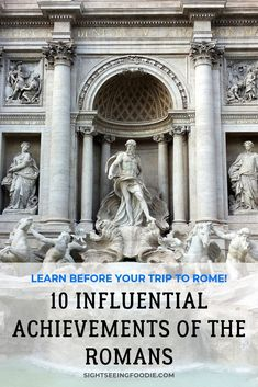 The Romans had a major influence on the modern world. If you're planning a trip to Italy soon, these facts will interest and inspire you! Rome Travel, Italy Travel, Rome History, Example Of News, Italy Honeymoon, Modern Books, Visit Italy, Rome Italy, Romans