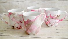 Marbled Mugs - CreativeMeInspiredYou.com