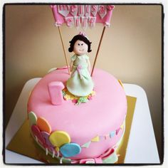 Şirin kız Pasta - Little Girl Birthday Cake