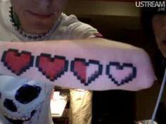 8 bit heart tattoo deadmau5 - Google'da Ara