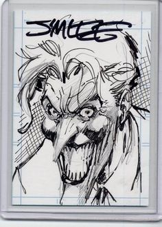 Joker sketch card - Jim Lee Comic Art