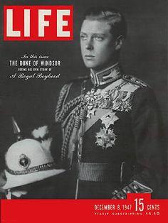 Original Life Magazine from December 1947 - Duke of Windsor Look Magazine, Time Magazine, Magazine Covers, Magazine Photos, News Magazines, Vintage Magazines, British Magazines, Life Cover, Photojournalism