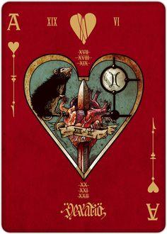 REQUIEM PLAYING CARDS DECK by Lorenzo Gaggiotti, via Behance