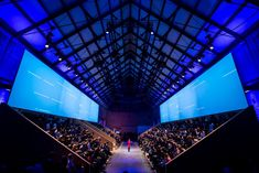 neoc - New Deko Sites Corporate Design, Corporate Events, Event Design, Think With Google, Visual Resume, Blue Shades Colors, Stage Set Design, Interactive Installation, Event Organiser