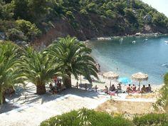 Schinos beach near Loutraki town Corinth