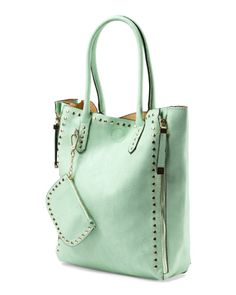 Studded Tote With Winged Sides