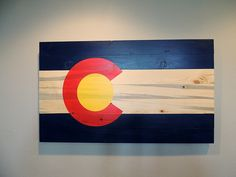 Colorado Flag on Blue Pine Beetle Kill Wood 14' x 24' -- Want additional info? Click on the image. (This is an affiliate link) #NaturalHomeDecor